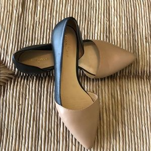 Nude and Black Cole Haan Flats